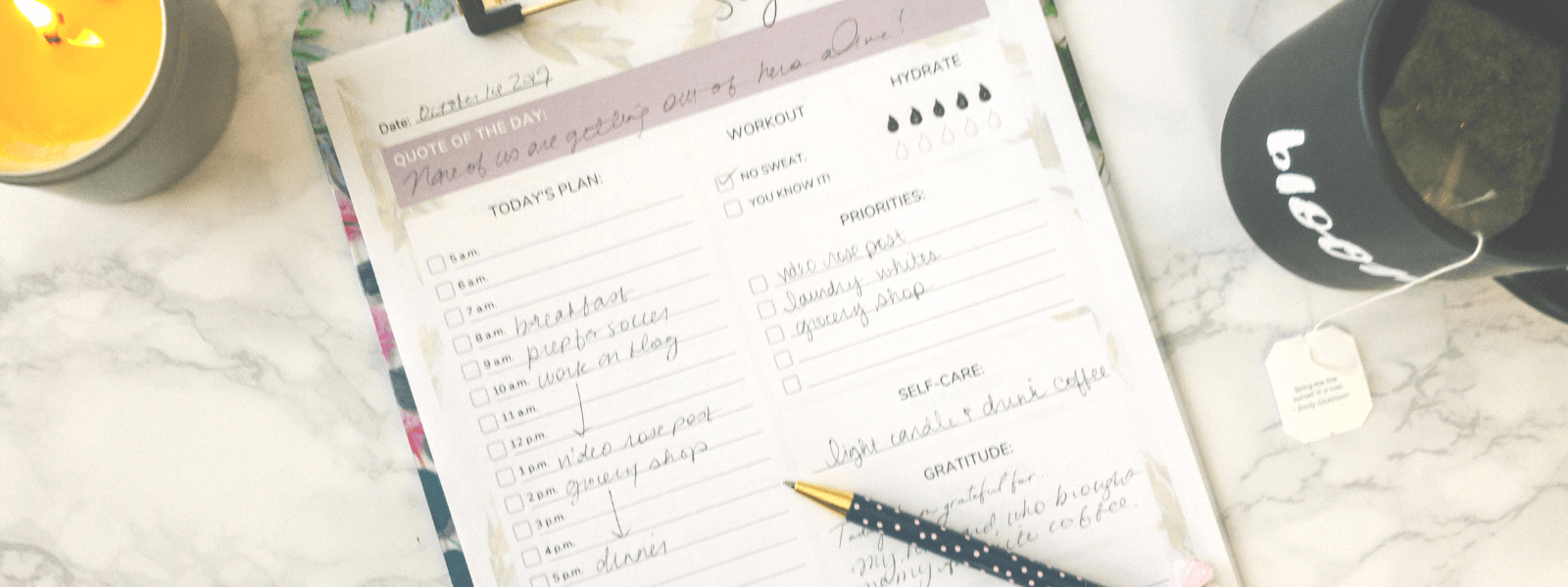 "Free ""Seize the Day"" Daily Planner Printable for Spoonies!"